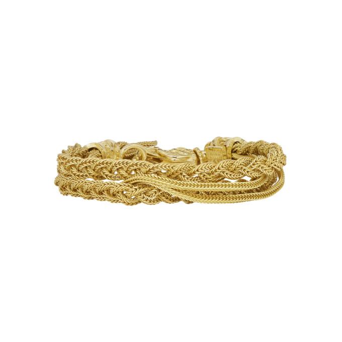 Photo: Emanuele Bicocchi Gold Double Braided Bracelet