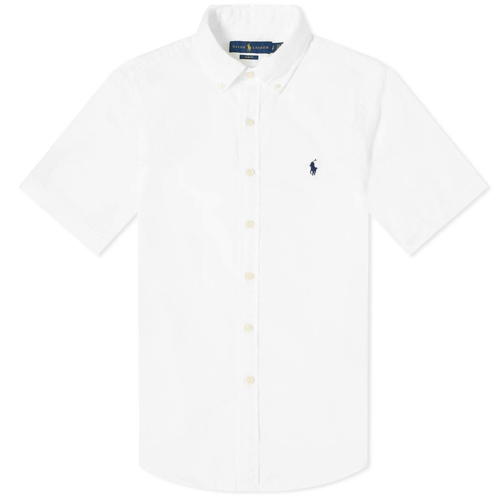 Polo Ralph Lauren Short Sleeve Slim Fit Seersucker Shirt Polo