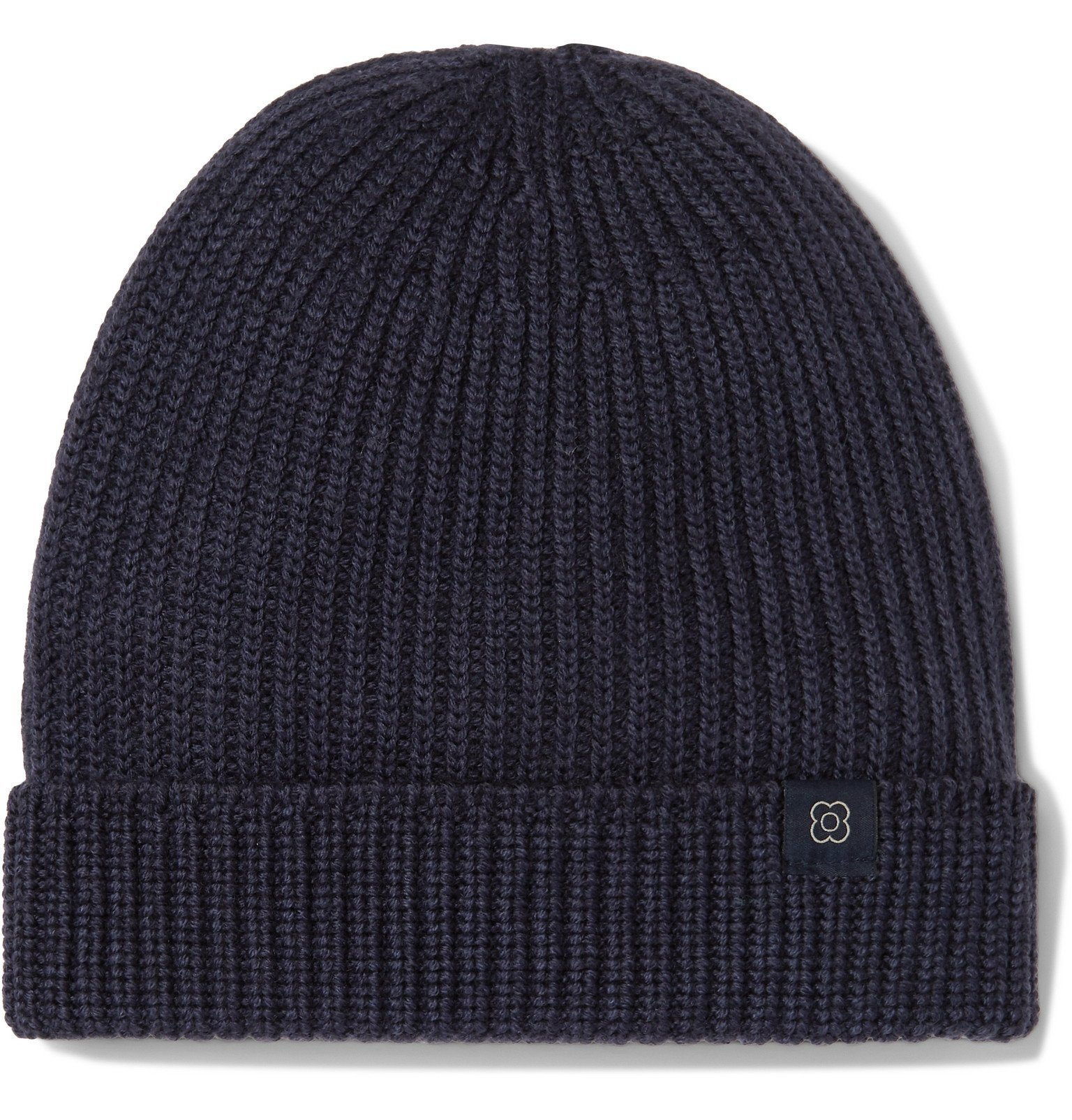 Photo: Lardini - Ribbed Wool Beanie - Blue