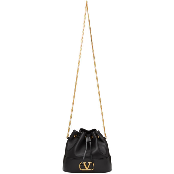 Photo: Valentino Black Valentino Garavani VLogo Bucket Bag