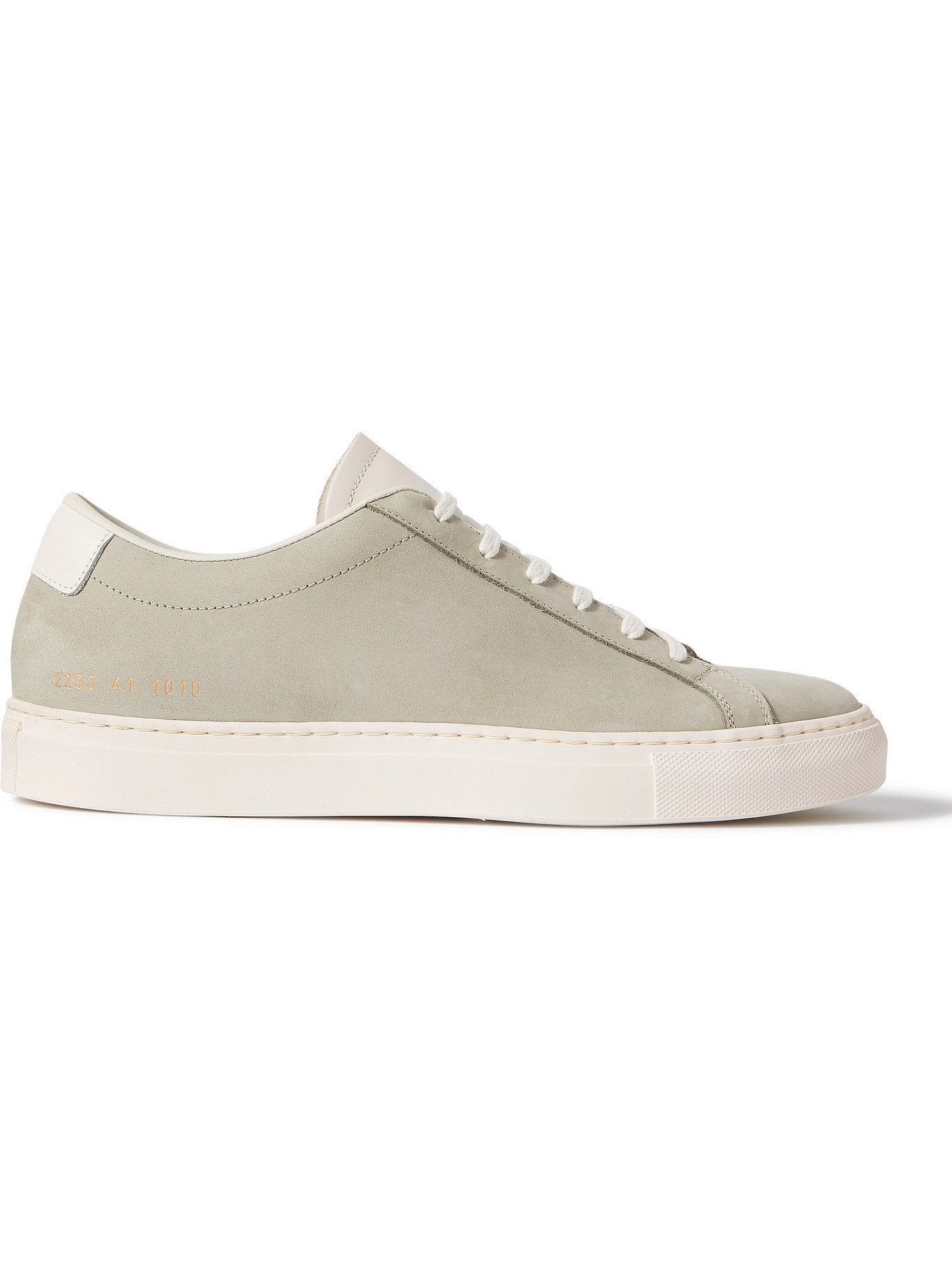 COMMON PROJECTS - Original Achilles Leather-Trimmed Nubuck Sneakers - Green