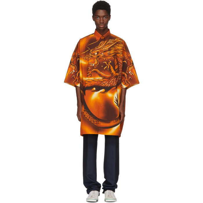 Photo: Balenciaga Orange Big Dragon Shirt