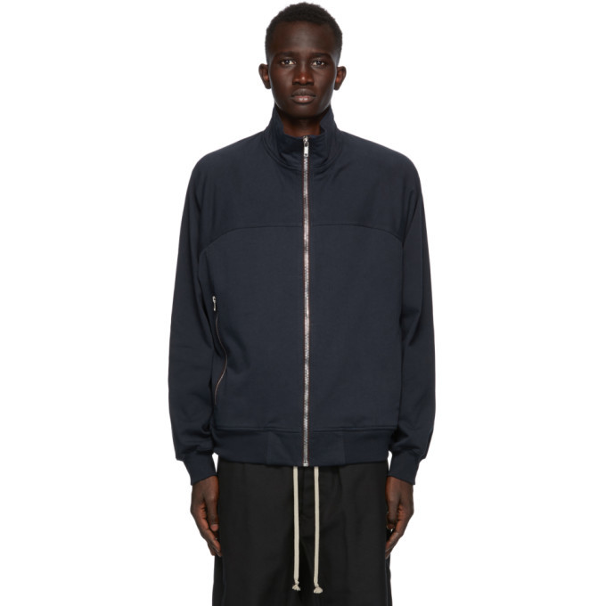 Photo: Rick Owens Navy Cotton Zip Jacket
