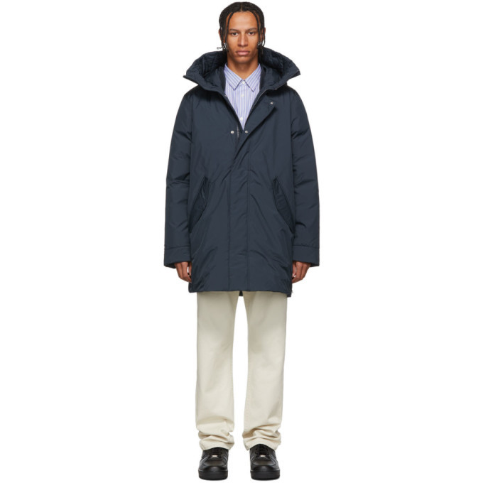 Photo: Woolrich John Rich and Bros Navy Down Marine Parka