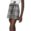 3.1 Phillip Lim Black and White Plaid Belted Shorts