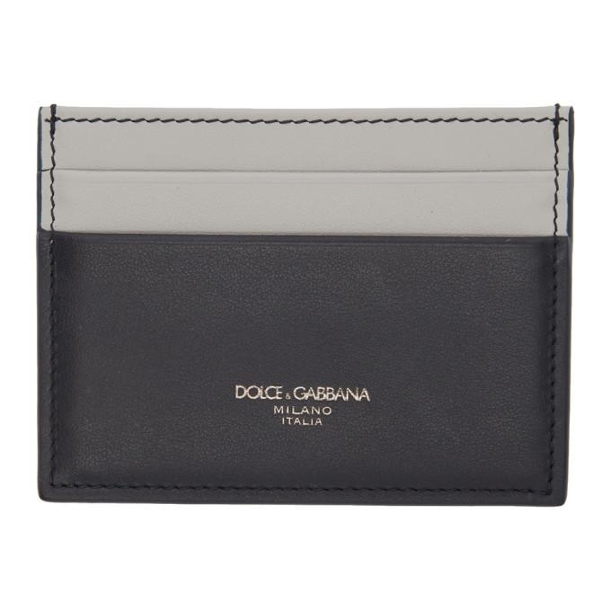 Photo: Dolce and Gabbana Grey and Navy Mediterranean Card Holder