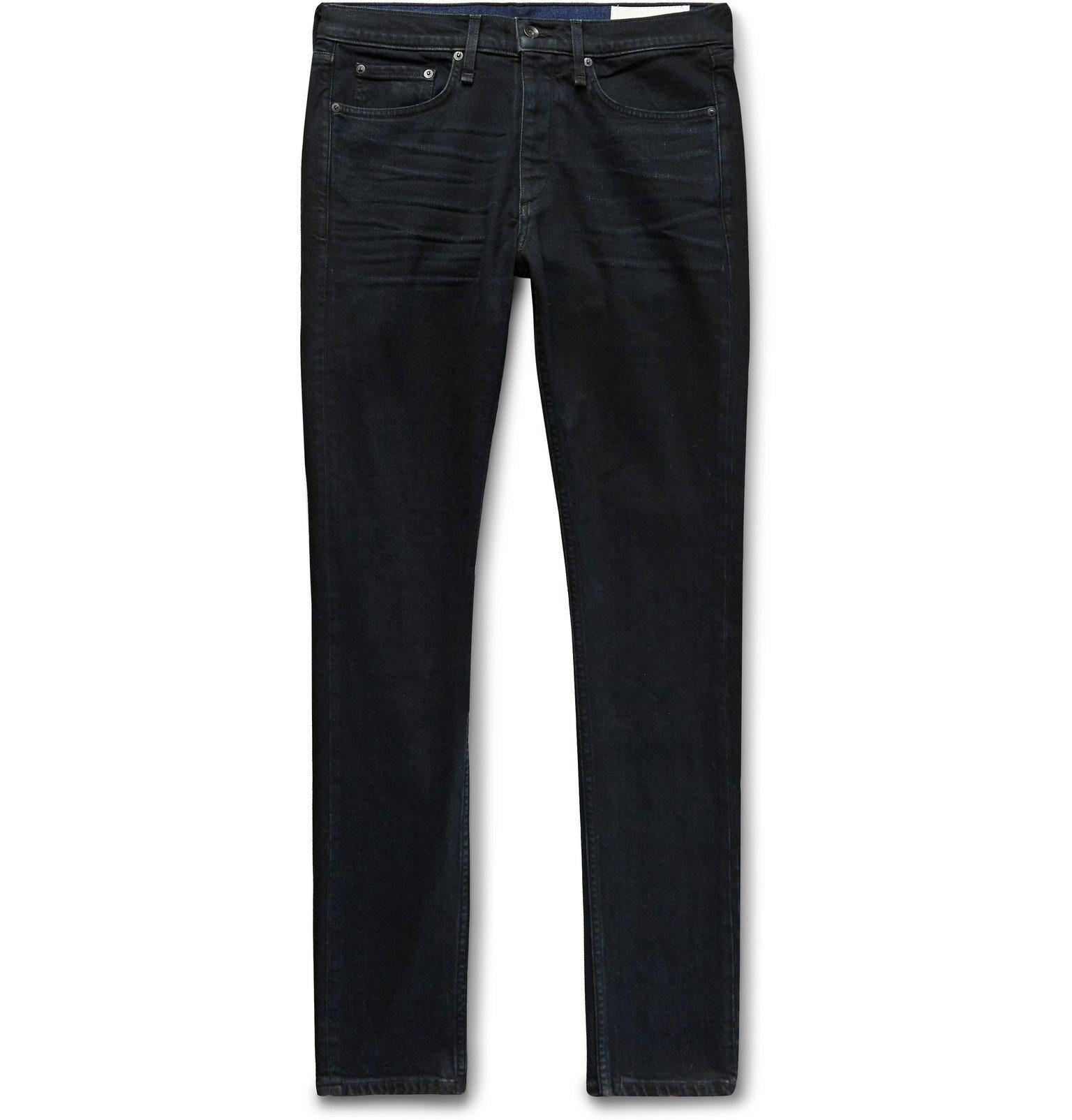 Photo: rag & bone - Fit 1 Slim-Fit Organic Stretch-Denim Jeans - Black