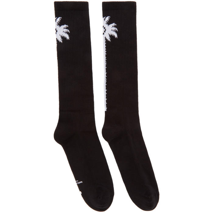 Palms long socks - Black Marcelo Burlon Cheapest Price Clearance Exclusive Buy Cheap Buy 87sHVF