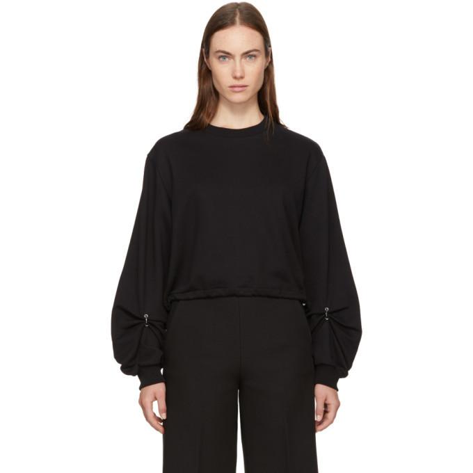 3.1 Phillip Lim Black Pierced Sleeve Sweatshirt