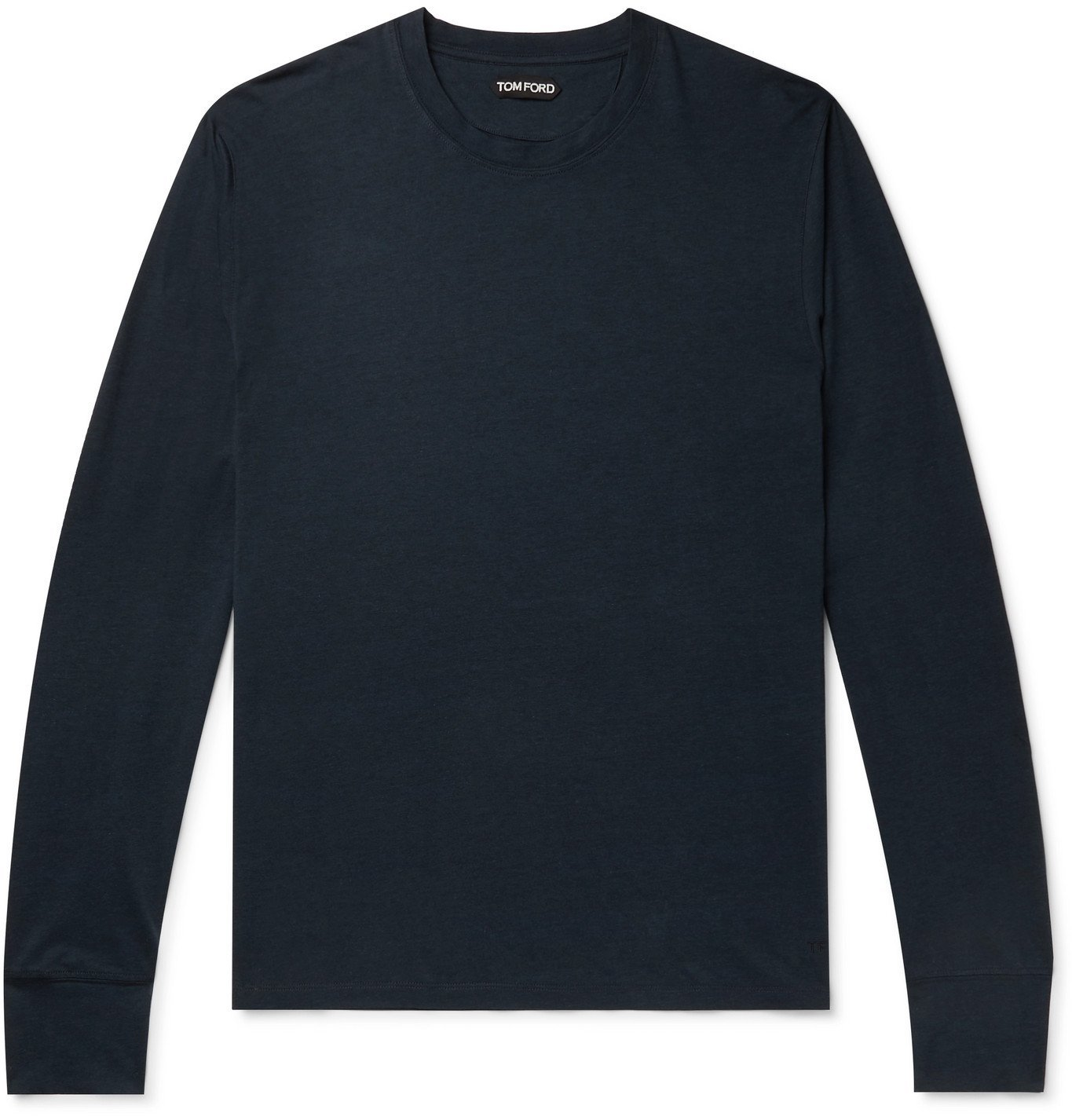 Photo: TOM FORD - Lyocell and Cotton-Blend Jersey T-Shirt - Blue