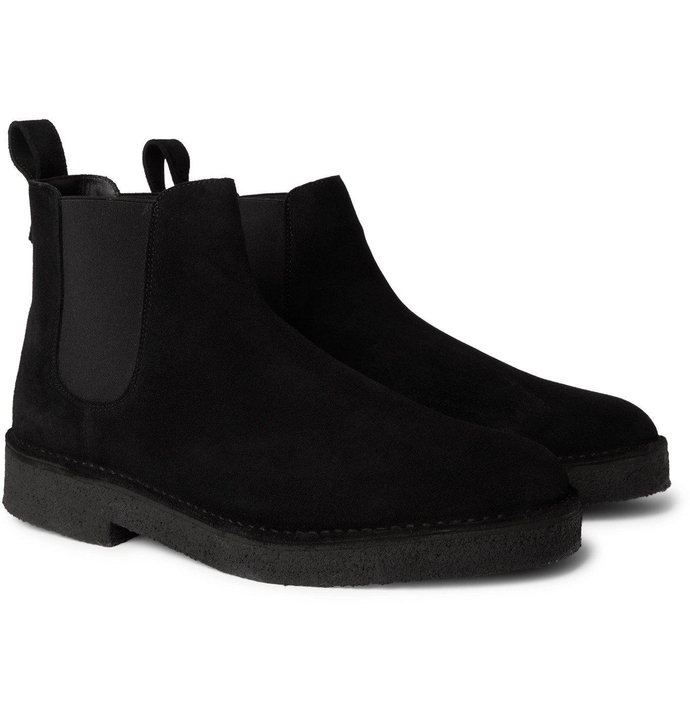 Photo: Clarks Originals - Suede Chelsea Boots - Black
