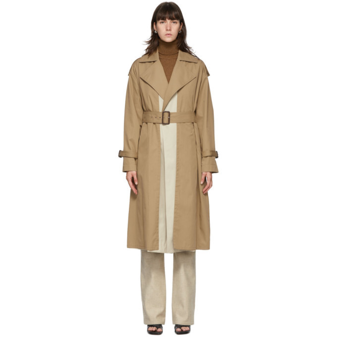 Photo: Victoria Beckham Beige Fitted Trench Coat