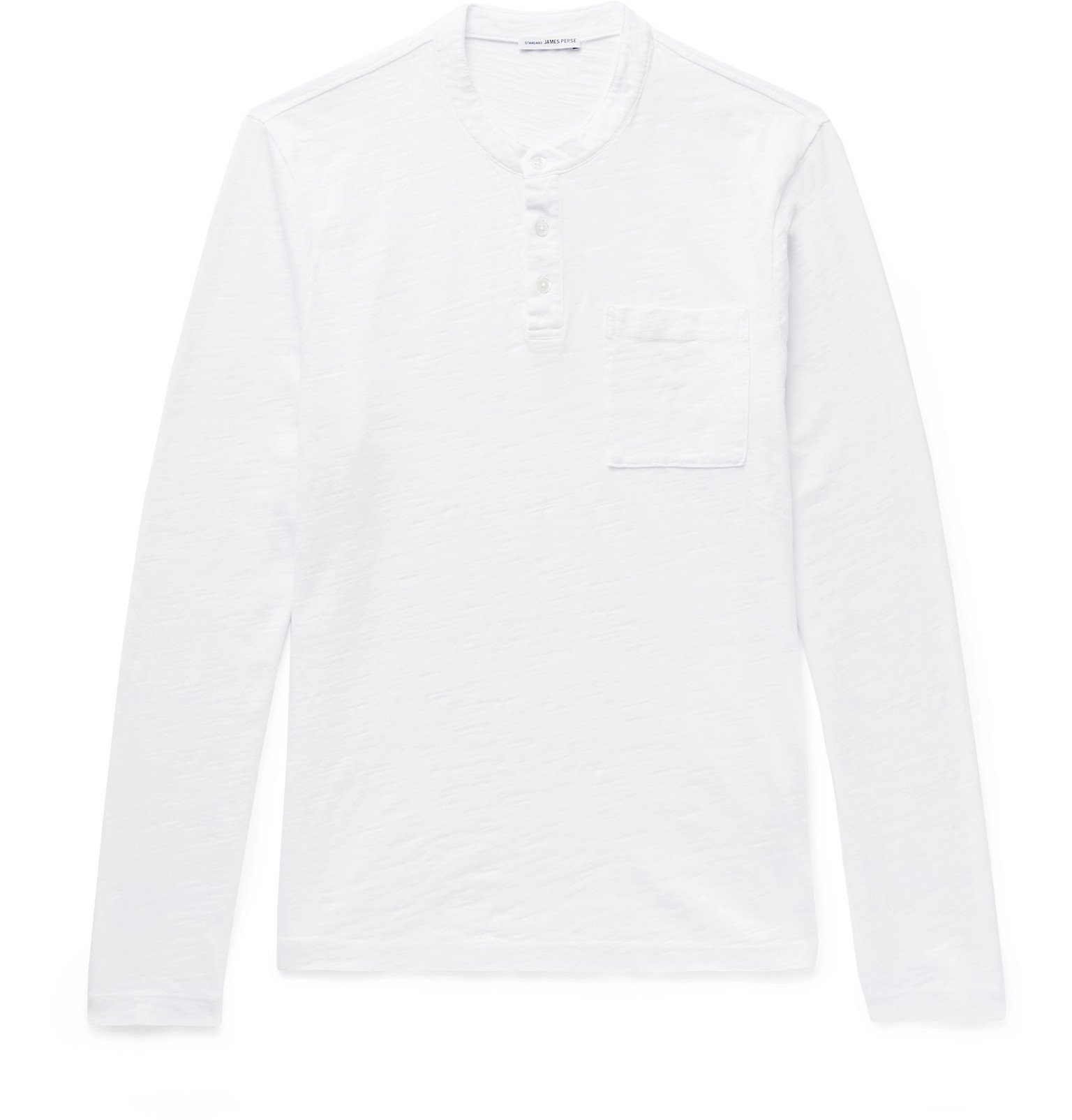 Photo: James Perse - Zimbabwe Cotton-Jersey Henley T-Shirt - White