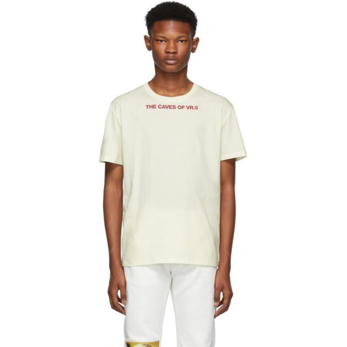 Raf Simons White The Caves Of VR.5 Slim Fit T-Shirt