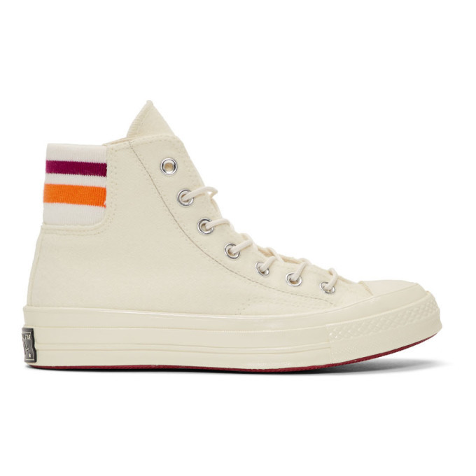 Photo: Converse Off-White Knit Back Chuck 70 High Sneakers