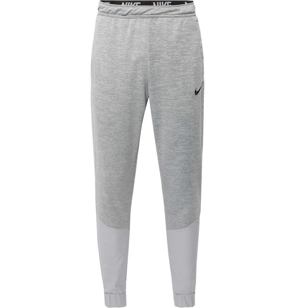 Photo: Nike Training - Tapered Panelled Loopback Dri-FIT Track Pants - Light gray