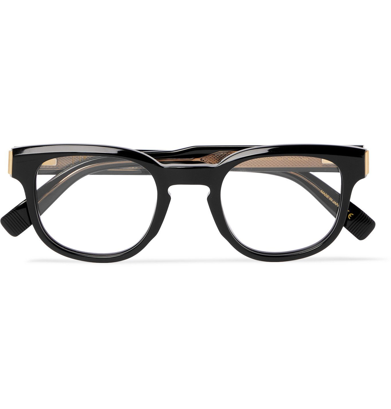 DUNHILL - Square-Frame Acetate and Gold-Tone Optical Glasses - Black