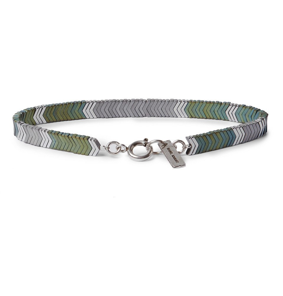 Isabel Marant - Herringbone Silver-Tone Hematite Bracelet - Silver