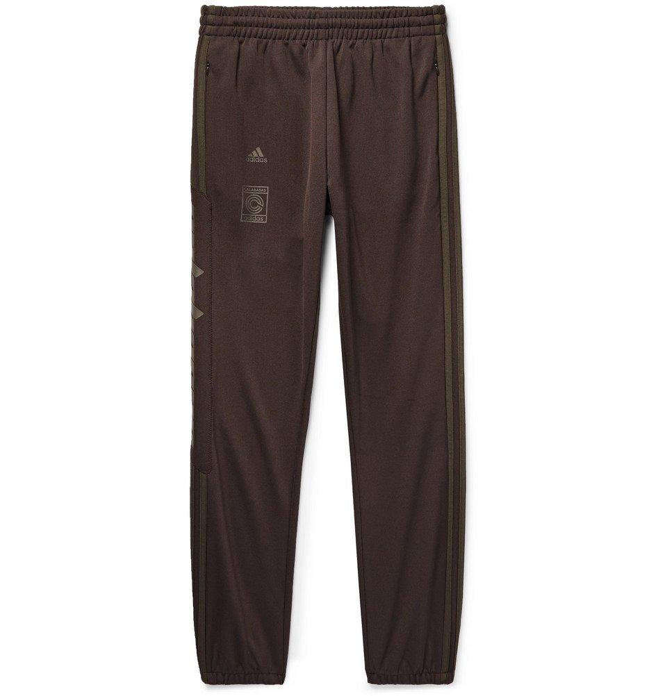 adidas Originals - Yeezy Calabasas Striped Jersey Sweatpants - Men ...