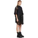 Sacai Black Mesh Bib Dress