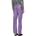 Martine Rose Purple Straight-Leg Jeans