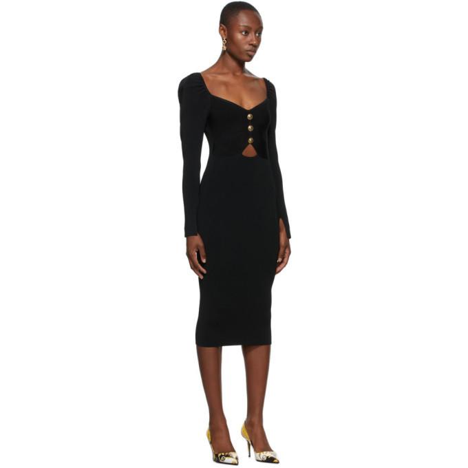 Versace Jeans Couture Black Seasonal Details Dress