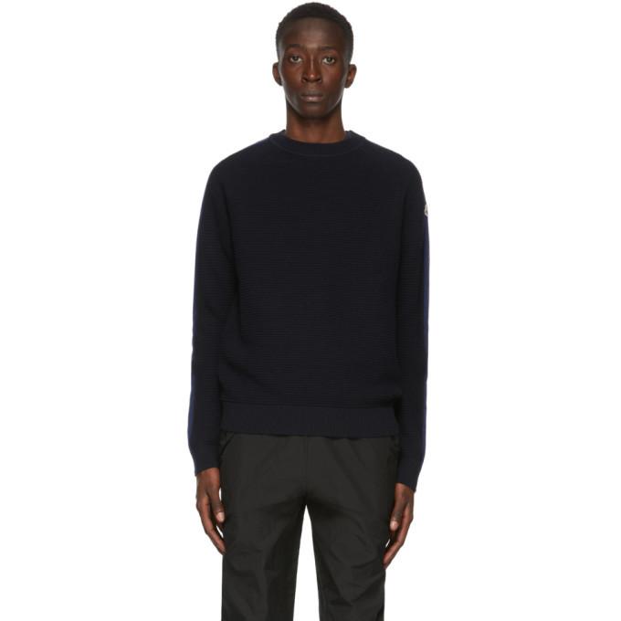 Photo: Moncler Navy Wool Tricot Sweatshirt