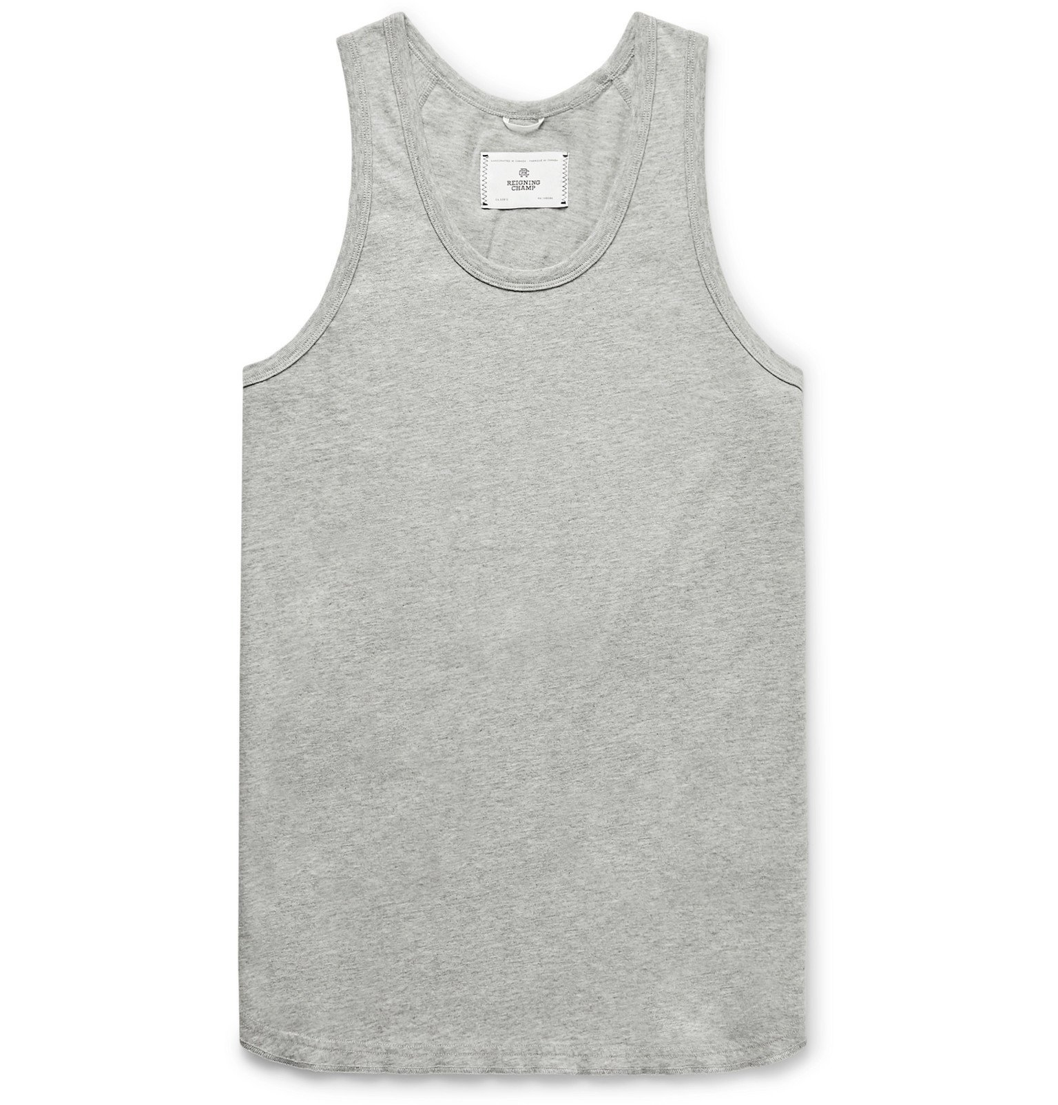 Photo: Reigning Champ - Pima Cotton-Jersey Tank Top - Gray
