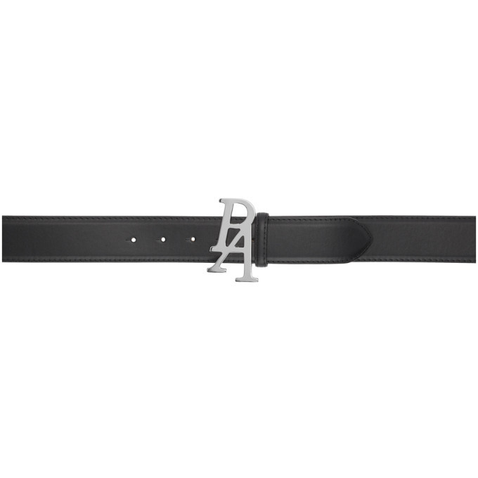 Photo: Palm Angels Black and Silver Logo Belt