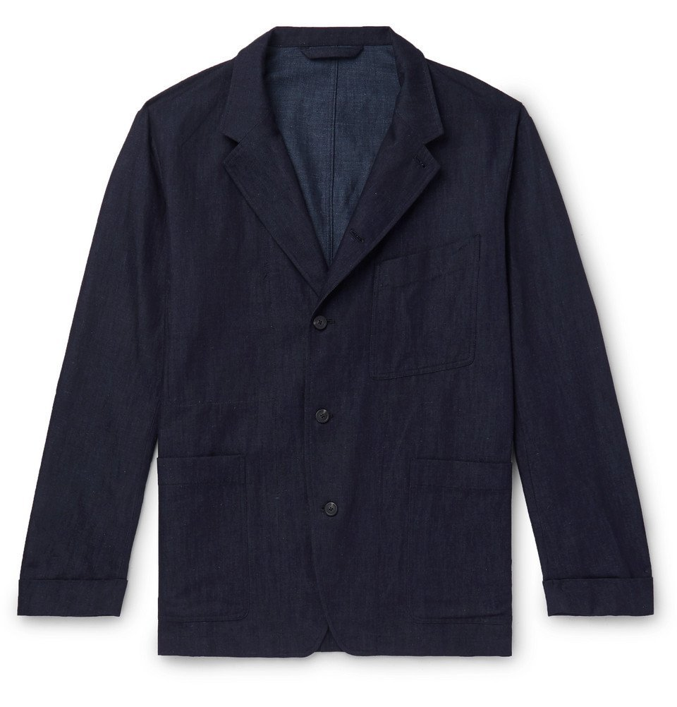 Photo: Paul Smith - Cotton, Linen and Silk-Blend Denim Chore Jacket - Indigo