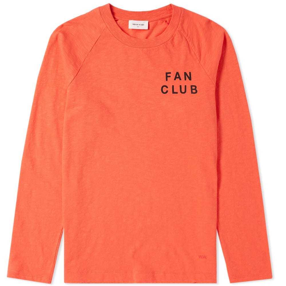 Photo: Wood Wood Long Sleeve Han Fan Club Tee Orange