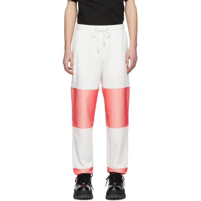 Photo: Feng Chen Wang White and Pink Contrast Striped Lounge Pants