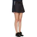 3.1 Phillip Lim Navy Origami Pleat Shorts