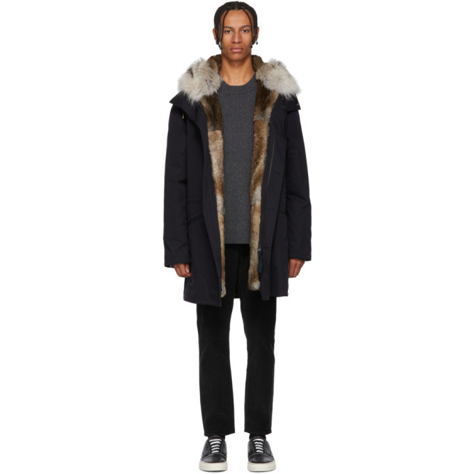 Photo: Yves Salomon Navy Multi Fur Bachette Parka
