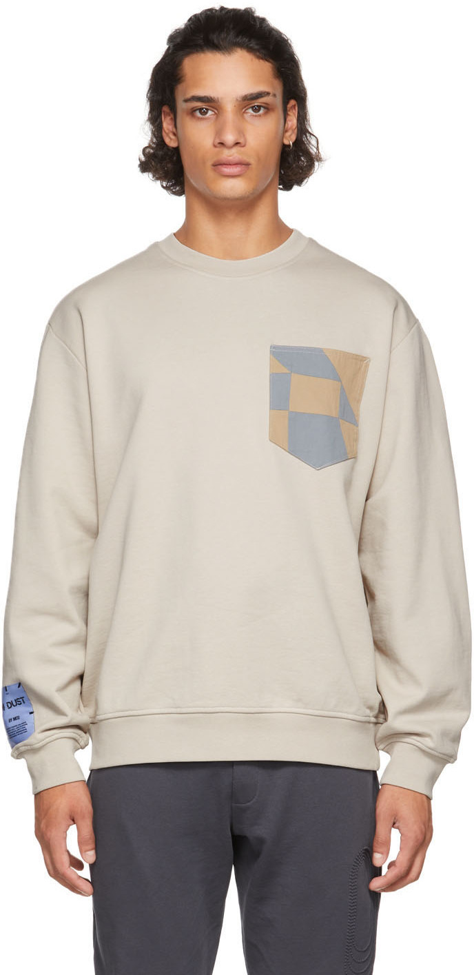 MCQ Off-White Patchwork Sweater