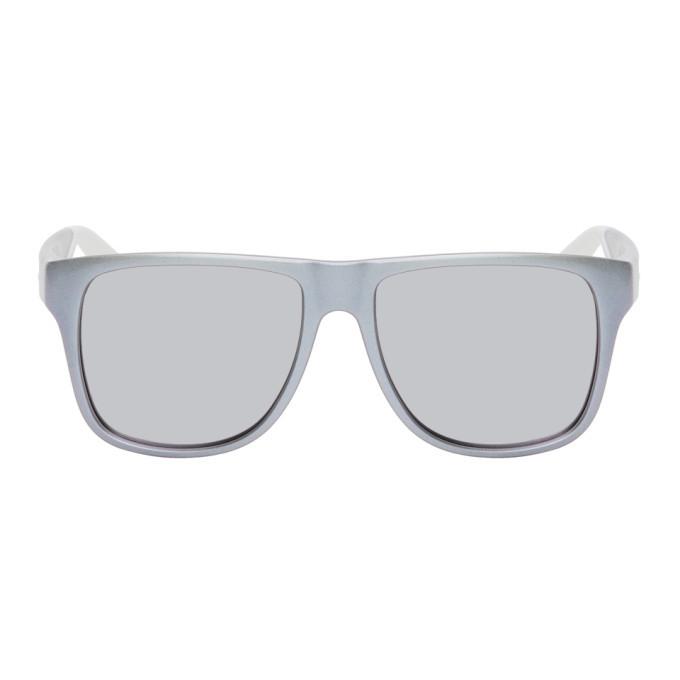 Photo: Alexander McQueen Purple Square Sunglasses