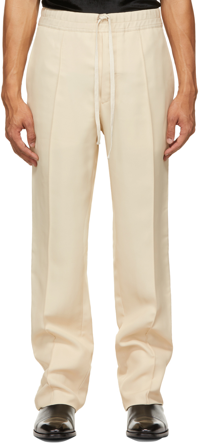 Photo: TOM FORD Beige High Shine Atticus Trousers