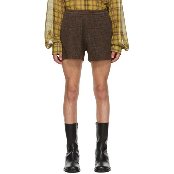 Photo: Dries Van Noten Brown Herringbone Check Shorts
