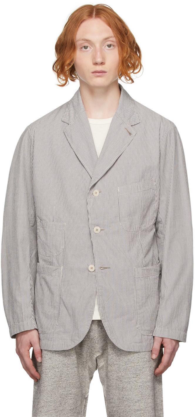 Photo: RRL Grey & White Striped Sport Coat Blazer