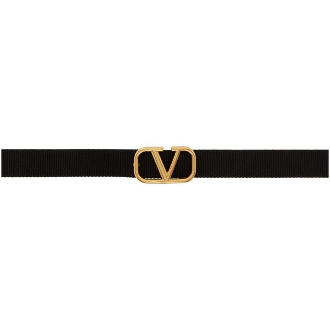 Photo: Valentino Black Valentino Garavani VLogo Tape Belt