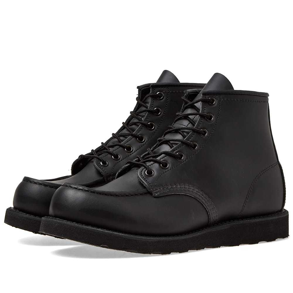 """Photo: Red Wing 8137 Heritage Work 6"""" Moc Toe Boot All Black Chrome"""