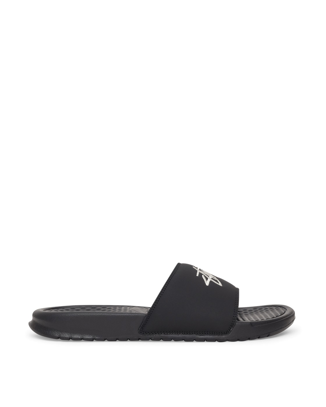 Photo: Nike X Stussy Stüssy Benassi Slides Black/Sail