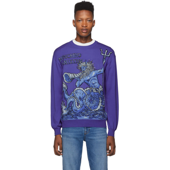 Photo: Moschino Purple Neptune Sweater