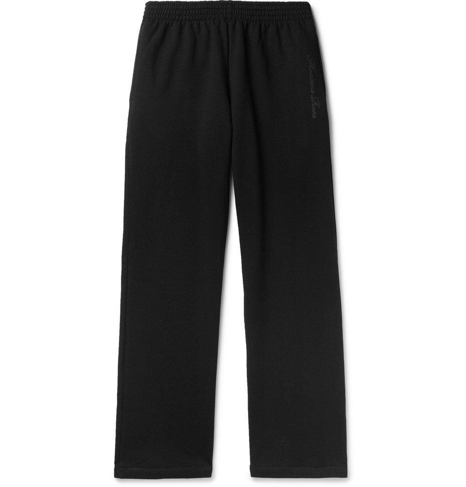 Martine Rose - Wide-Leg Loopback Cotton-Jersey Sweatpants - Black