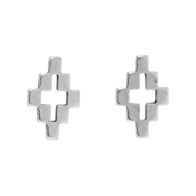 Photo: Marcelo Burlon County of Milan Silver Cross Earrings