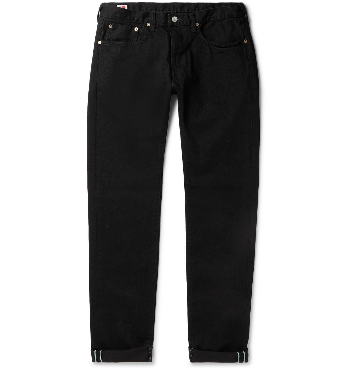 Photo: EDWIN - Kaihara Slim-Fit Selvedge Stretch-Denim Jeans - Black