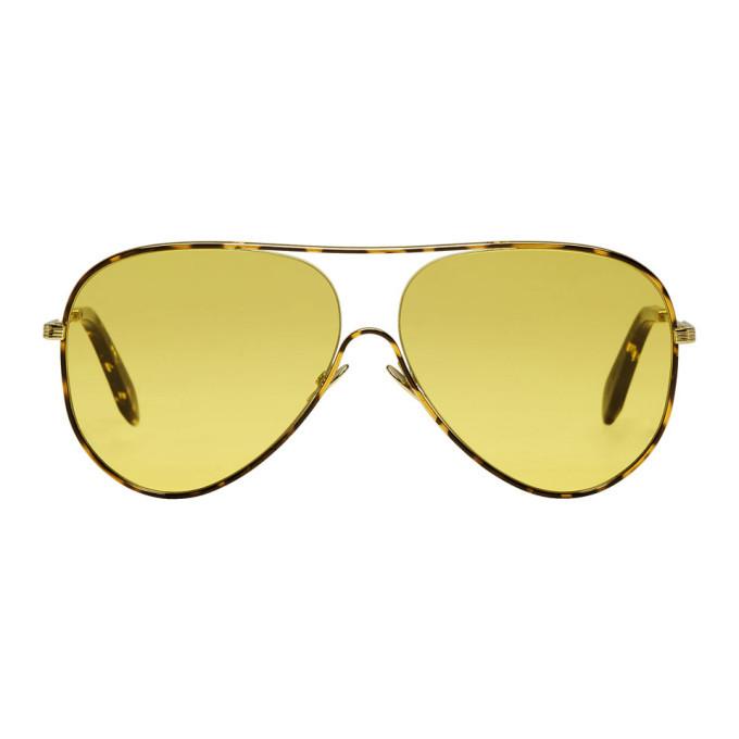 Victoria Beckham Tortoiseshell Loop Aviator Sunglasses 9CxSgfm
