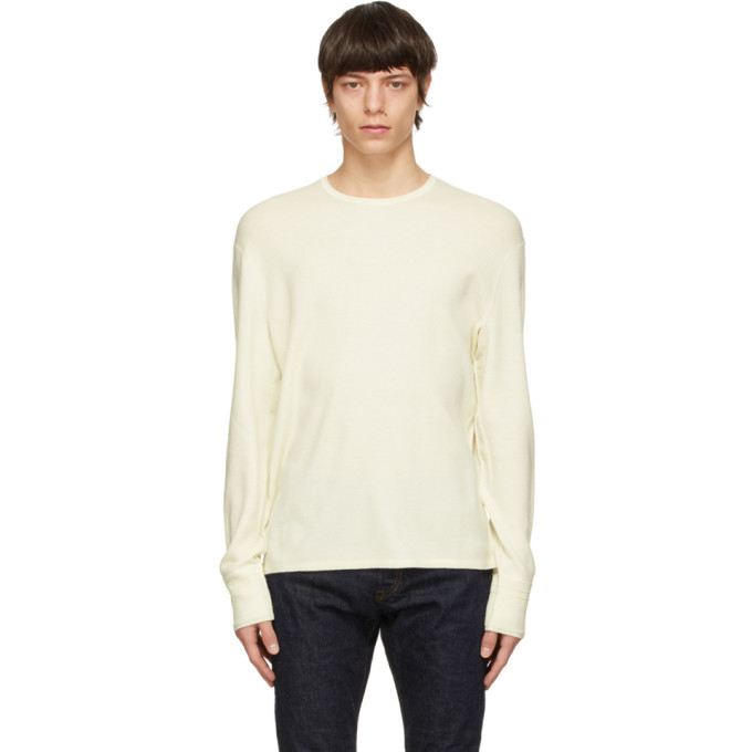 Photo: rag and bone Off-White Merino Collin Sweater