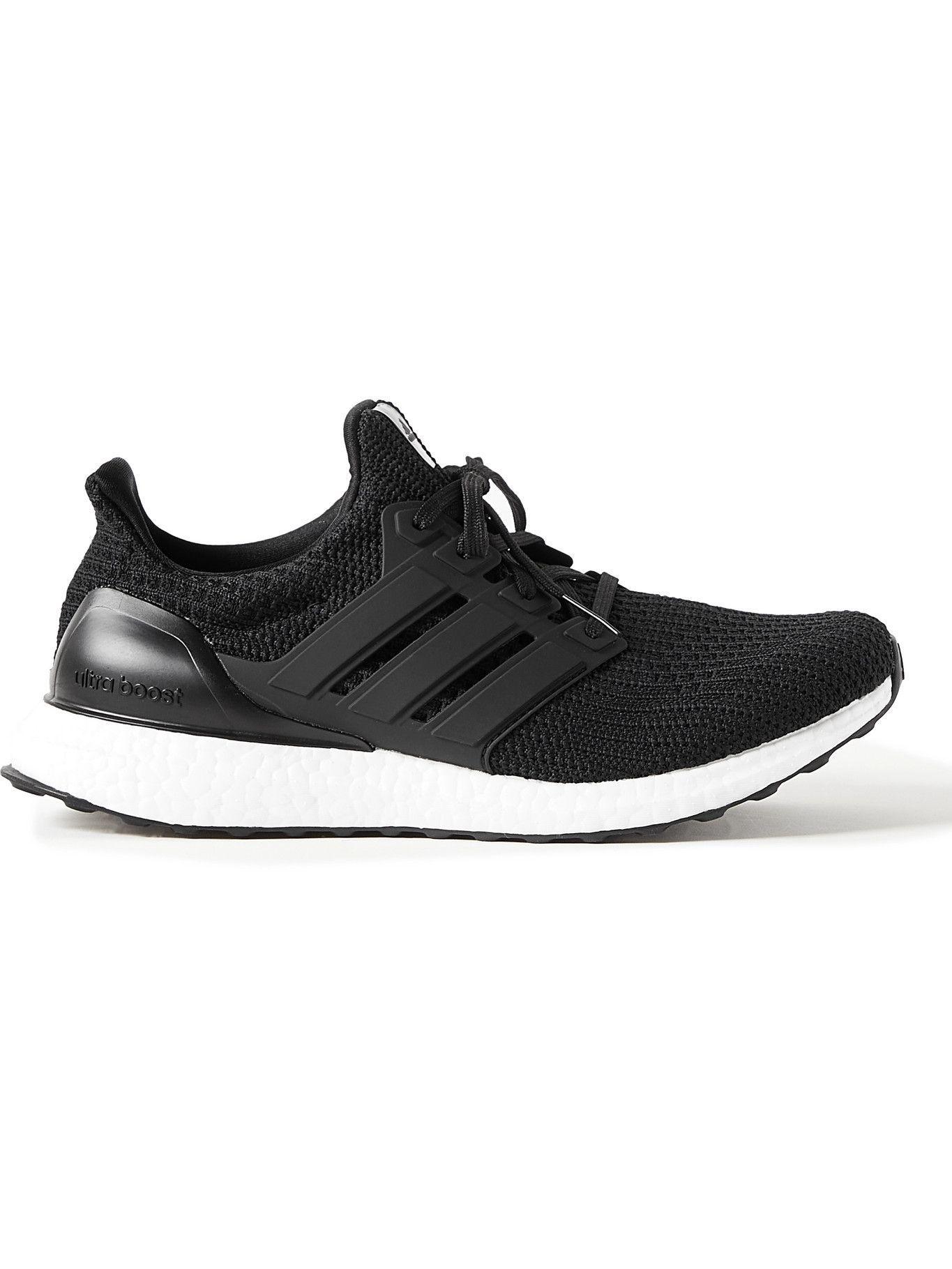 Photo: adidas Sport - UltraBoost 4.0 DNA Rubber-Trimmed Primeknit Running Sneakers - Black