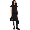Sacai Navy Melton Wool Skirt